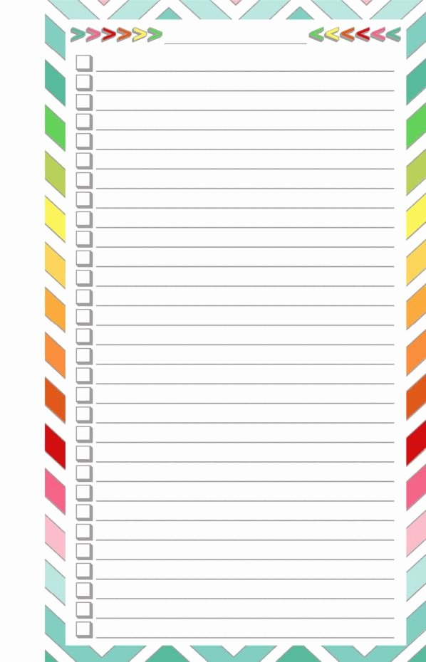 Cute to Do List Template Word Luxury Free Printable Blank Checklist Half Page