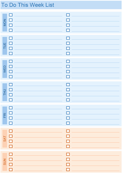 Cute to Do List Template Word Unique Daily to Do List Templates for Excel