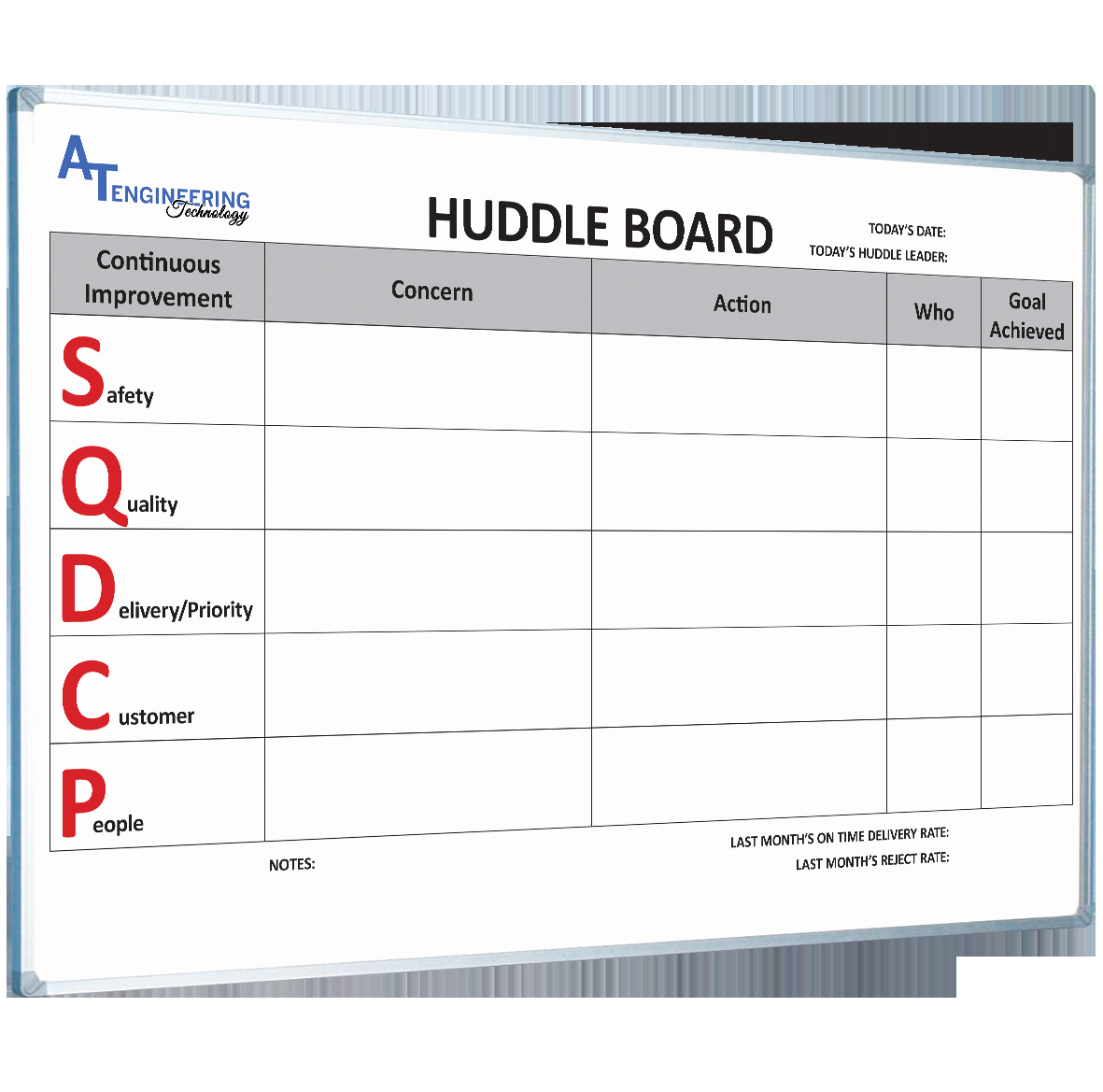 Daily Huddle Template Best Of Lean Manufacturing Custom Printed Magnetic Whiteboards