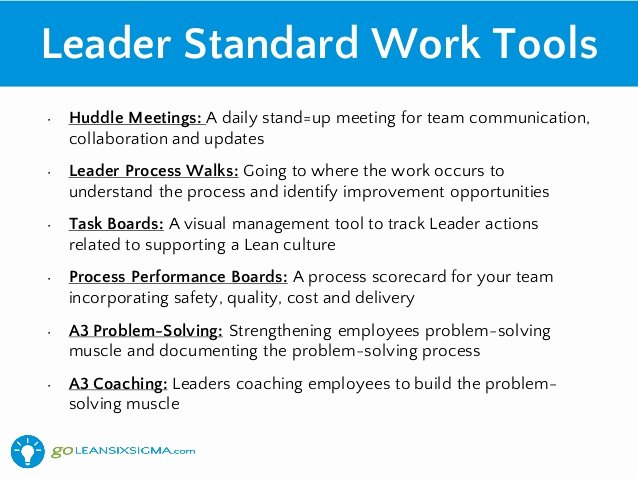 Daily Huddle Template Fresh How Leaders Can Support Lean Using Leader Standard Work