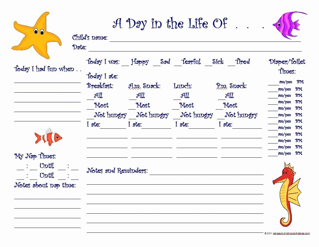 Daily Sign In Sheet for Daycare New Free Printable Preschool Progress Reports