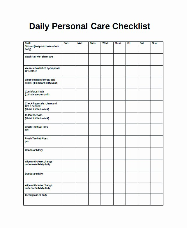 Daily Task List Template Word Beautiful Free Daily Checklist Template and Its Purposes