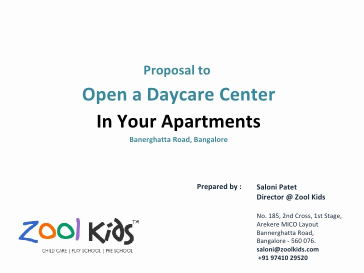 Daycare Business Plan Template Free Download Best Of Zool Kids Day Care Proposal