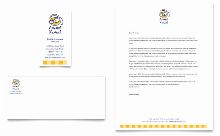 Daycare Business Plan Template Free Download Elegant Dog Kennel & Pet Day Care Business Card & Letterhead