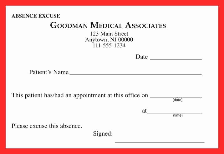Dental Excuse Note Awesome Dentist Doctors Note