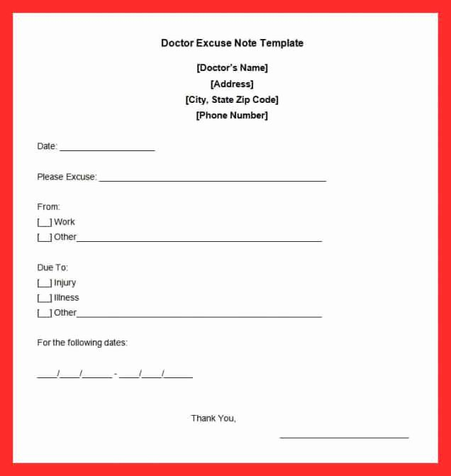 Dentist Excuse Template Inspirational Dentist Doctors Note