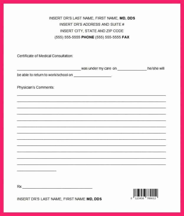 Dentist Excuse Template Unique Fake Hospital Note Template