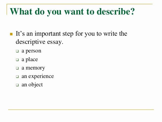 Descriptive Essay Examples College Lovely How to Write A Descriptive Essay Title Capitalization