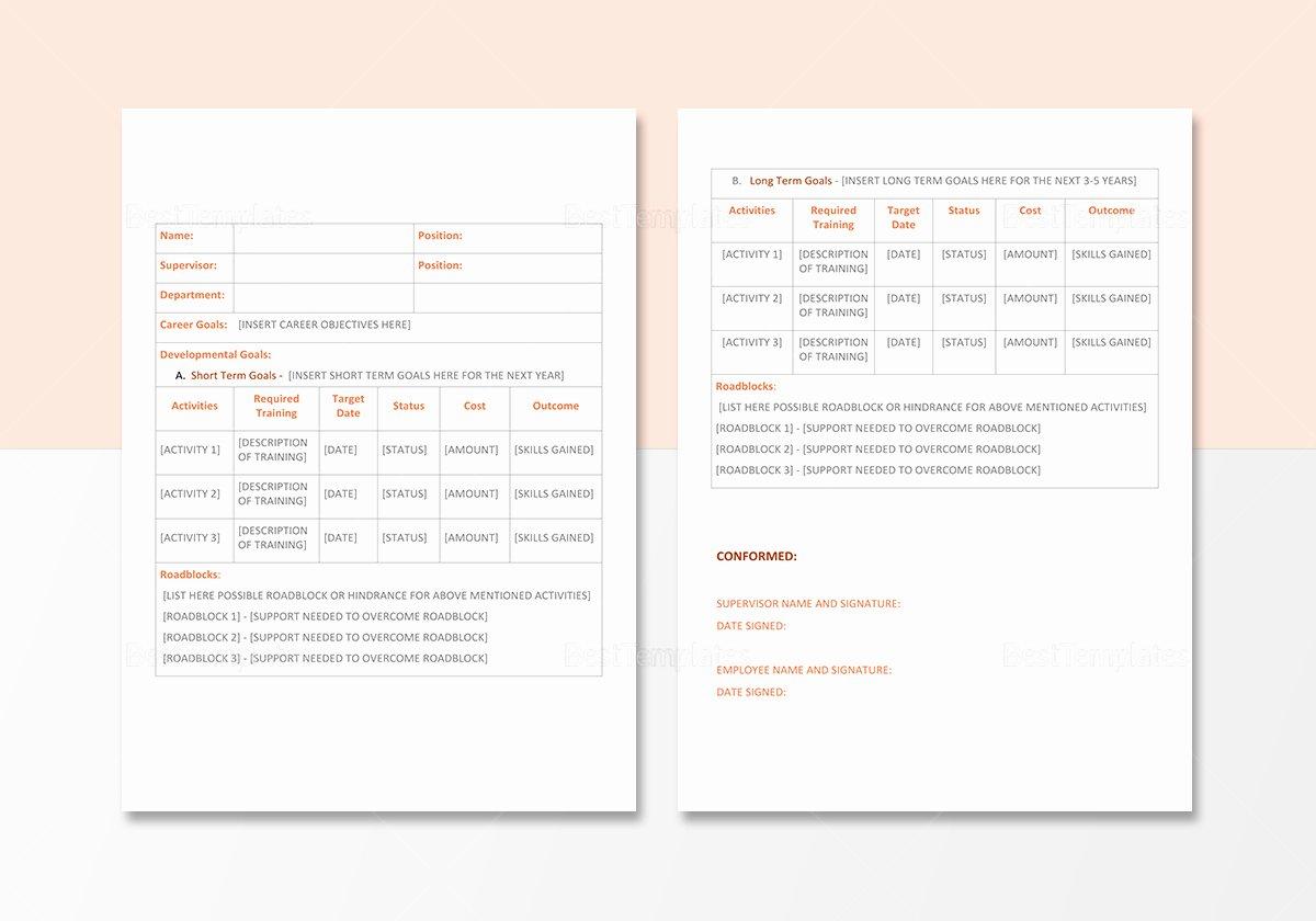 Design and Development Plan Template Fresh Career Development Plan Template In Word Google Docs