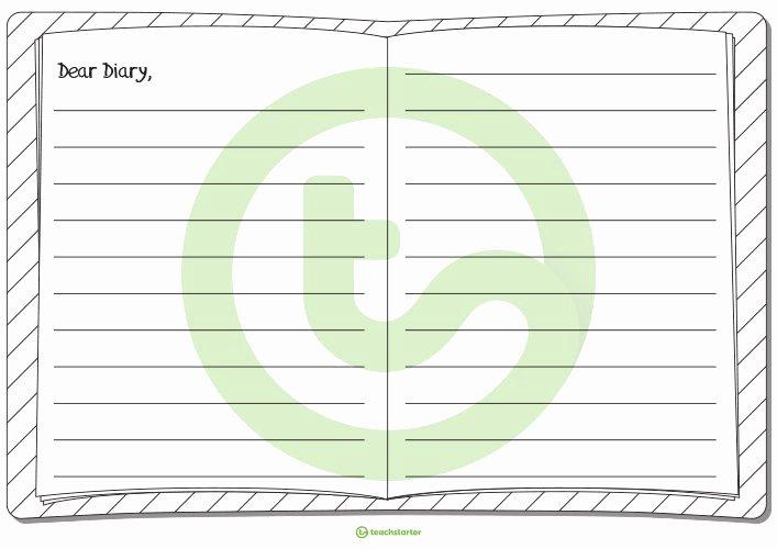 Diary Entry Template Word Fresh Dear Diary Writing Template Ks2 U2013 Gardensbymaryve Day