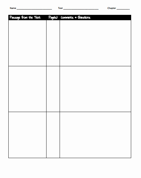 Diary Entry Template Word Unique 8 Dialectical Journal Templates Pdf