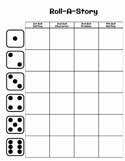 Dice Template Pdf New Editable Roll A Story