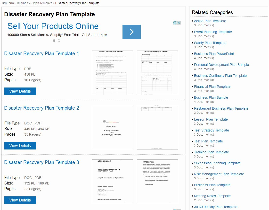 Disaster Recovery Plan Template Nist Unique Itil Disaster Recovery Plan Template S and