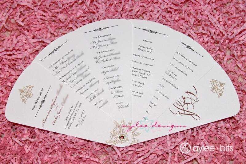 Diy Wedding Program Fan Templates Awesome Diy Fan Programs