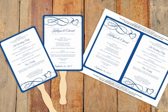 Diy Wedding Program Fan Templates Fresh Diy Wedding Fan Program Template Download by Karmakweddings