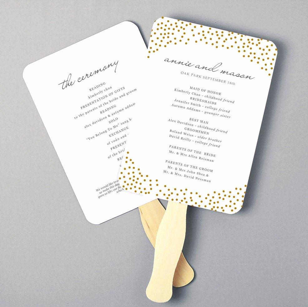 Diy Wedding Program Fan Templates Inspirational Printable Fan Program Fan Program Template Wedding Fan