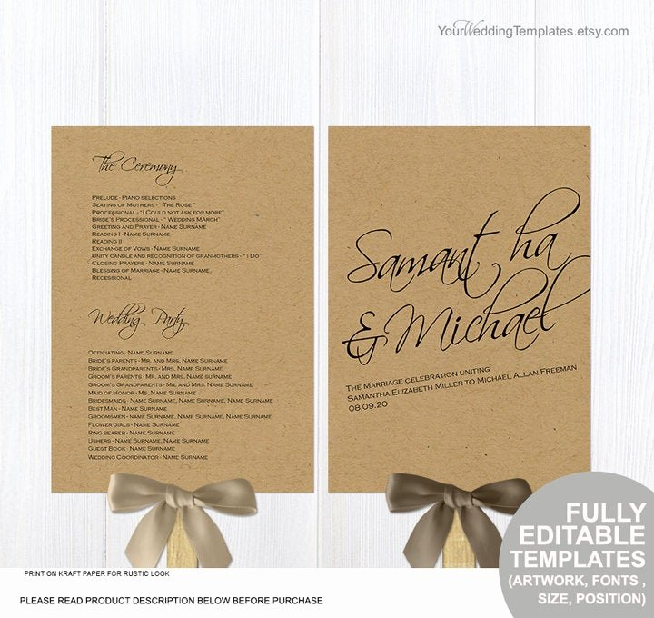 Diy Wedding Program Fan Templates Inspirational Rustic Diy Wedding Program Fans Template Printable Ceremony