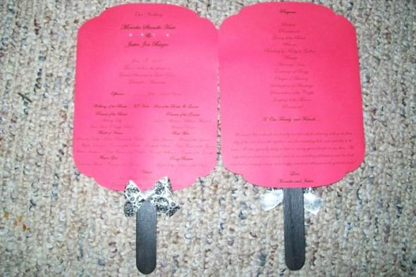 Diy Wedding Program Fan Templates Unique Msmonicka's Diy Paddle Fan Programs