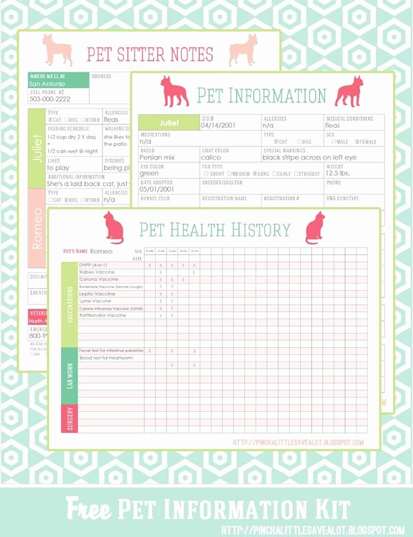 Dog Shot Record Template Fresh Free Pet Printables to Keep Track Of Vaccinations