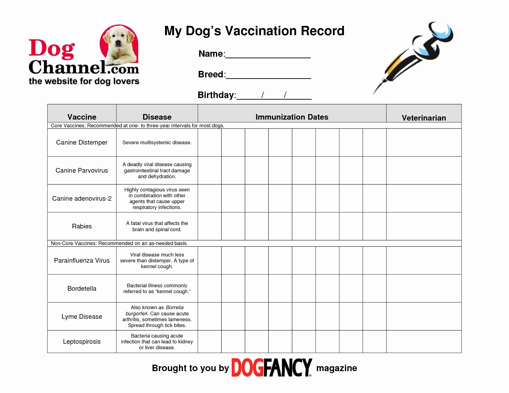 Dog Shot Record Template Unique Chart Template Category Page 438 Efoza