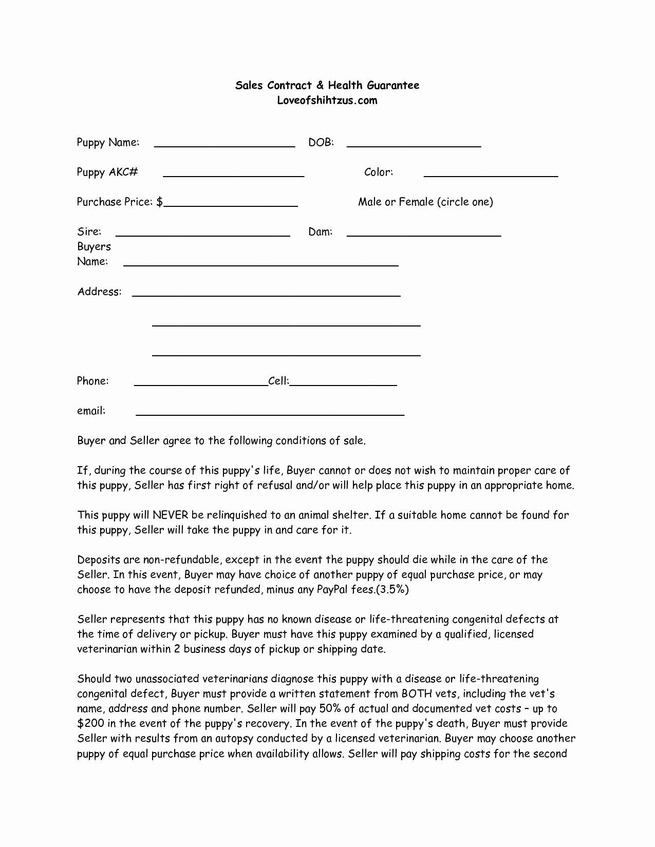 Dog Training Contract Template Awesome Puppy Sale Contract Template Success