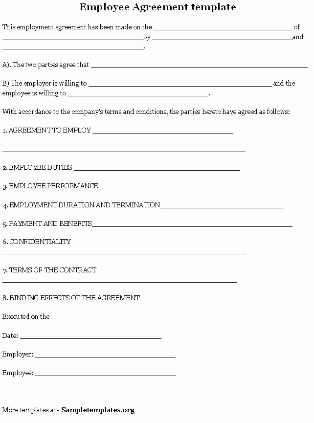 Dog Training Contract Template Unique Employee Agreement is A Contract Between An Employer and