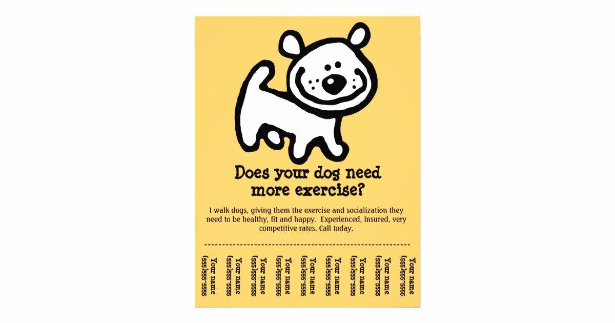 cute dog walking promotion tear sheet flyer y flyer