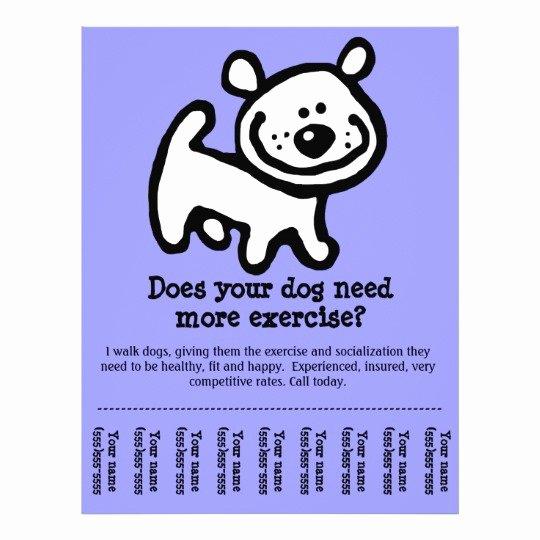cute dog walker customizable promo flyer