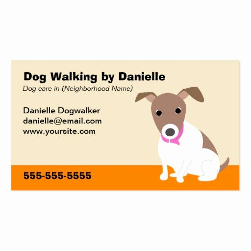 Dog Walking Template Beautiful Dog Walking Business Double Sided Standard Business Cards