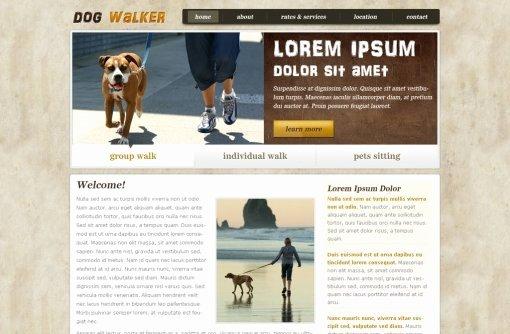 Dog Walking Template Beautiful Dog Walking Website Template