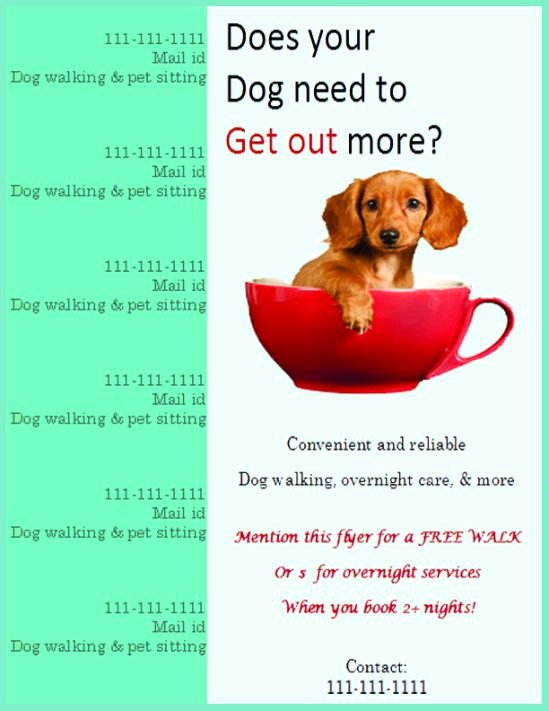 Dog Walking Template Best Of 25 Dog Walking Flyers for Small Dog Sitting Businesses