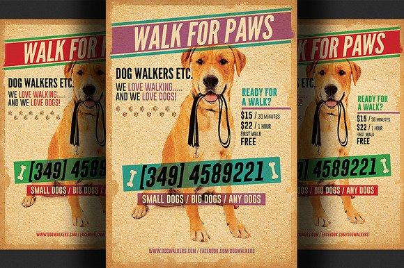 Dog Walking Template Elegant Dog Walkers Flyer Template 2 Flyer Templates On Creative