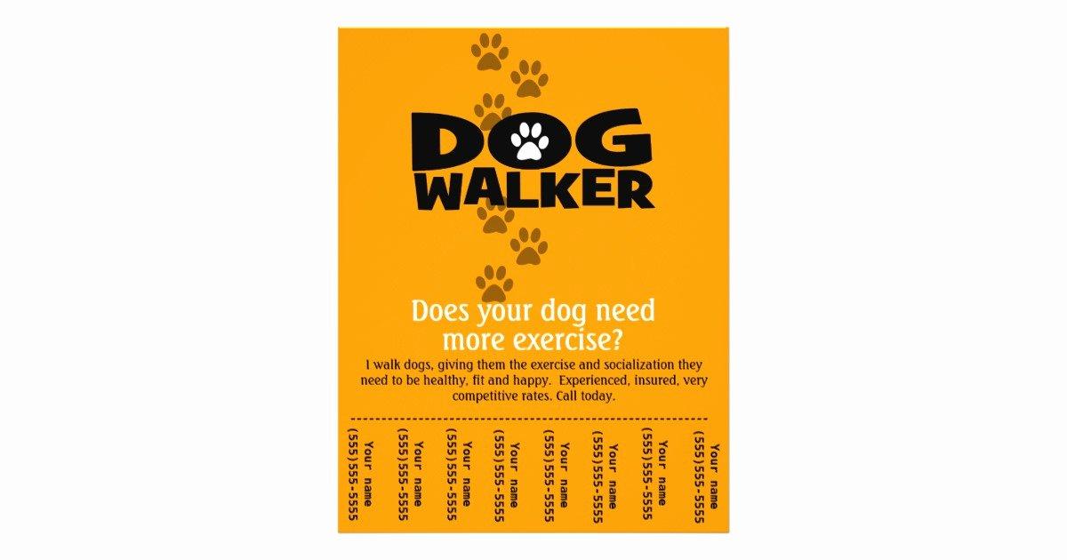 Dog Walking Template Fresh Dog Walking Business Tear Sheet Flyer Template