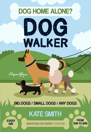 Dog Walking Template Fresh Free Psd Flyer Templates