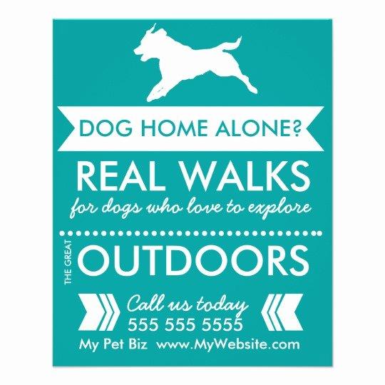 Dog Walking Template Inspirational Dog Walker Flyer Personalizable