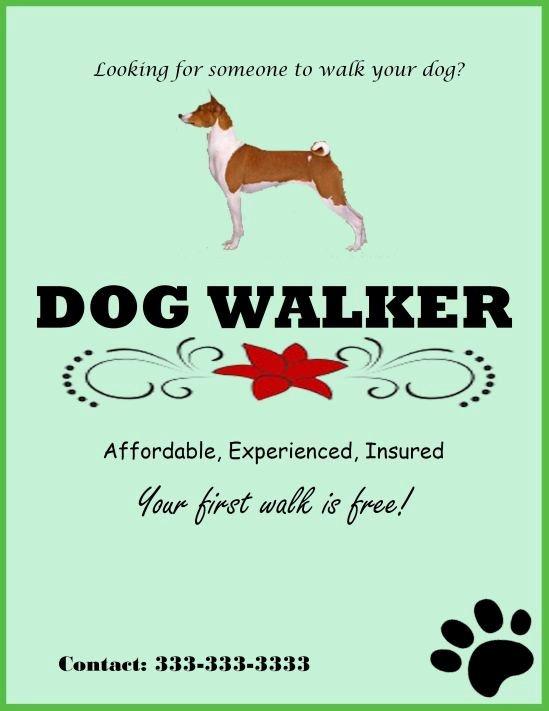 Dog Walking Template Lovely Best 25 Dog Walker Flyer Ideas On Pinterest