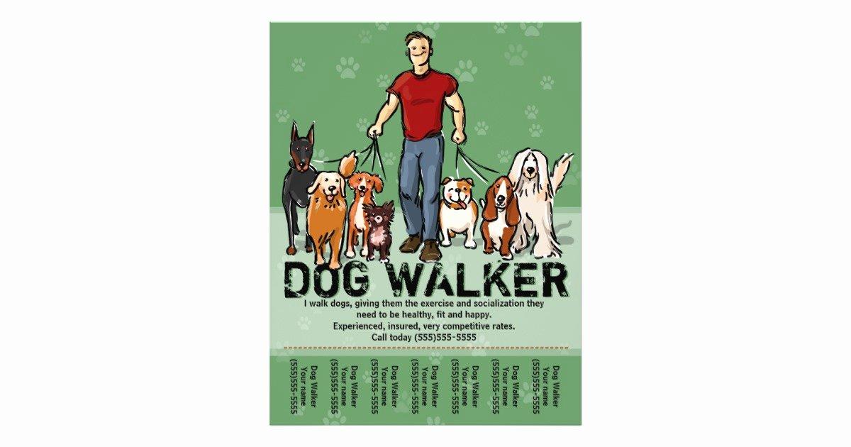 Dog Walking Template Lovely Dog Walker Dog Walking Guy Grn Promotemplate Flyer