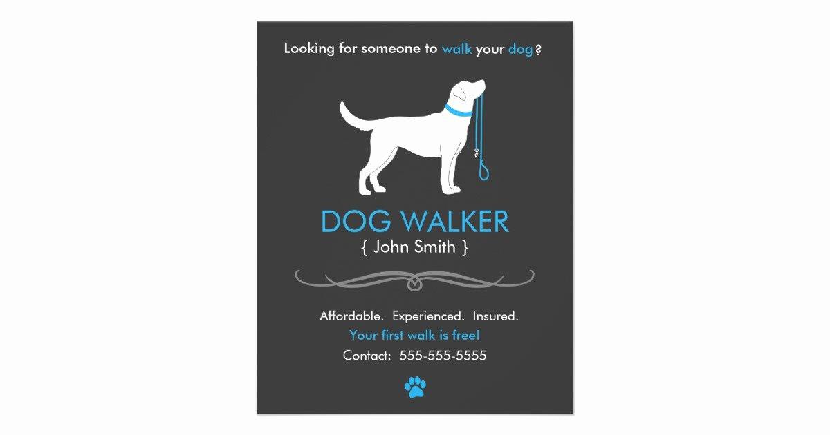 Dog Walking Template Luxury Dog Walker Walking Business Flyer Template Small