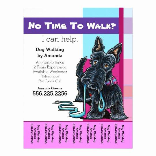 Dog Walking Template New Dog Walker Scottie Plaid Personalized Tear Sheet