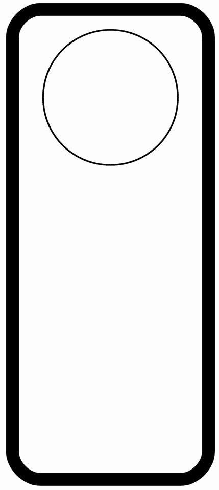 Door Hanger Template for Word Inspirational Door Hanger