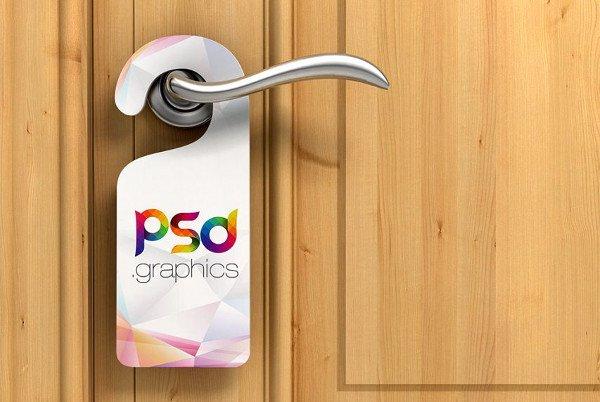 Door Knob Hanger Template Awesome 23 Door Hanger Mockup Templates Free & Premium Download