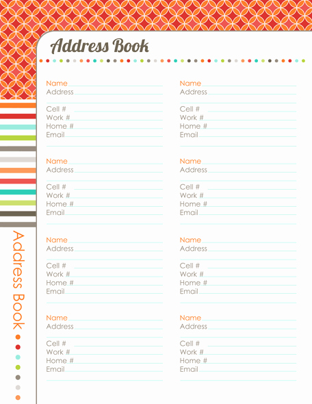 Editable Address Book Template Unique 31 Days to A Clutter Free Life Address Book Day 29