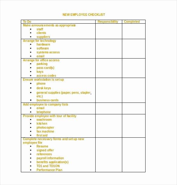 Editable Checklist Template Word Lovely 34 Word Checklist Templates