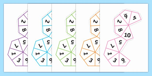 Editable Dice Template Elegant Free Dice Net 1 10 Dice 1 10 Templates How to