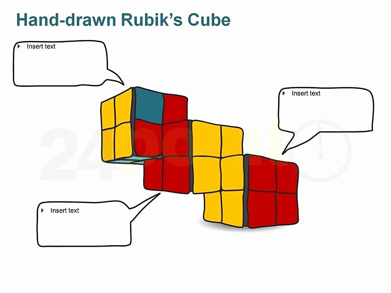Editable Dice Template Inspirational Editable Powerpoint Template Rubik S Cube Hand Drawn
