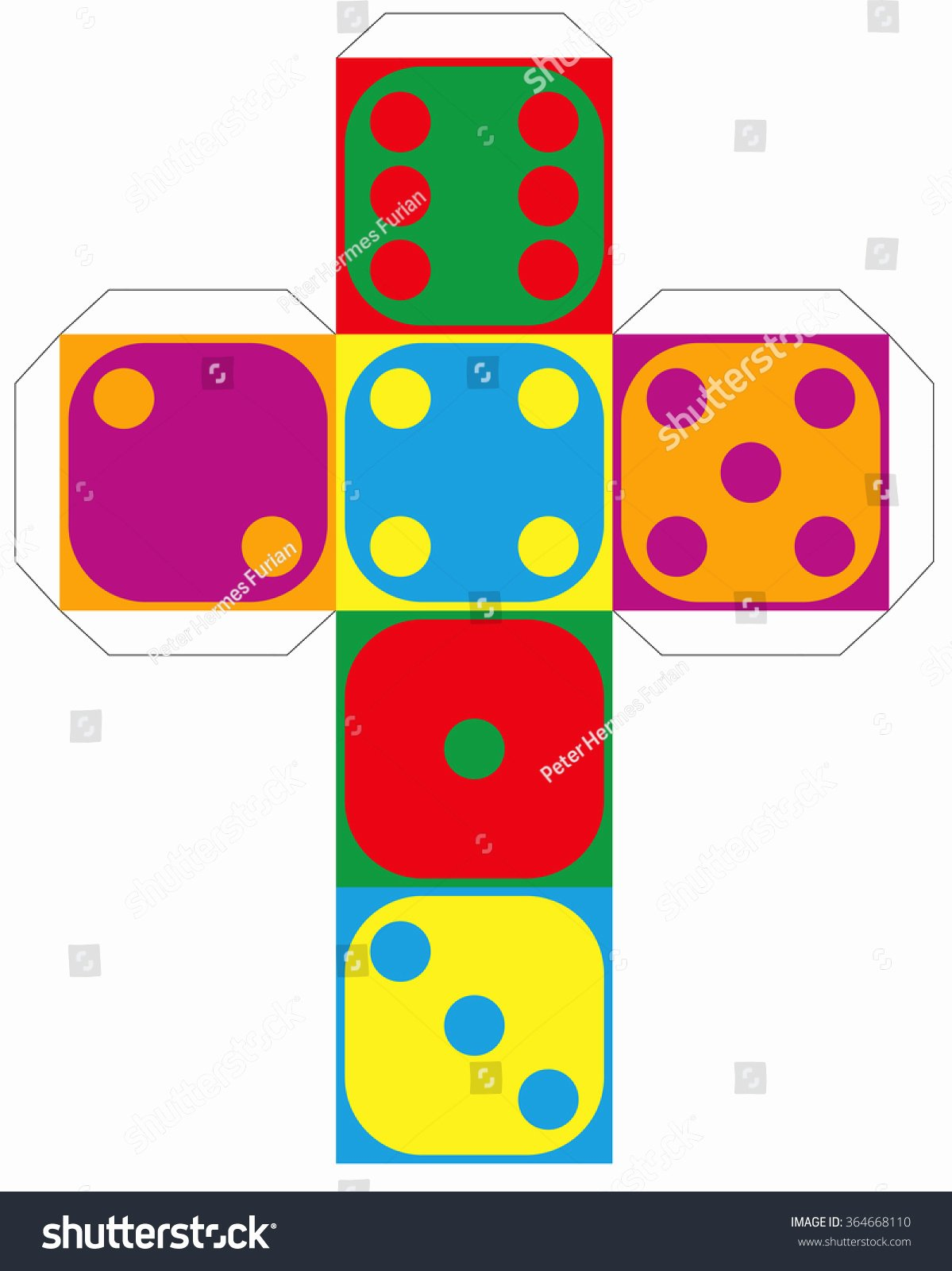Editable Dice Template New Dice Template Model A Colorful Cube to Make A Three