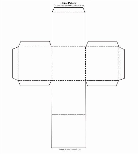 Editable Dice Template Unique 18 Paper Cube Templates Pdf Doc