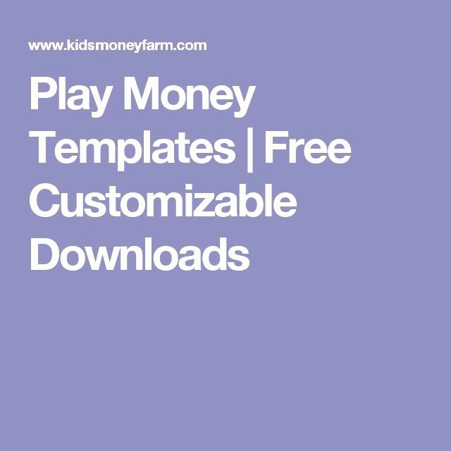 Editable Play Money Template Elegant 8 Best Images About Rewards On Pinterest