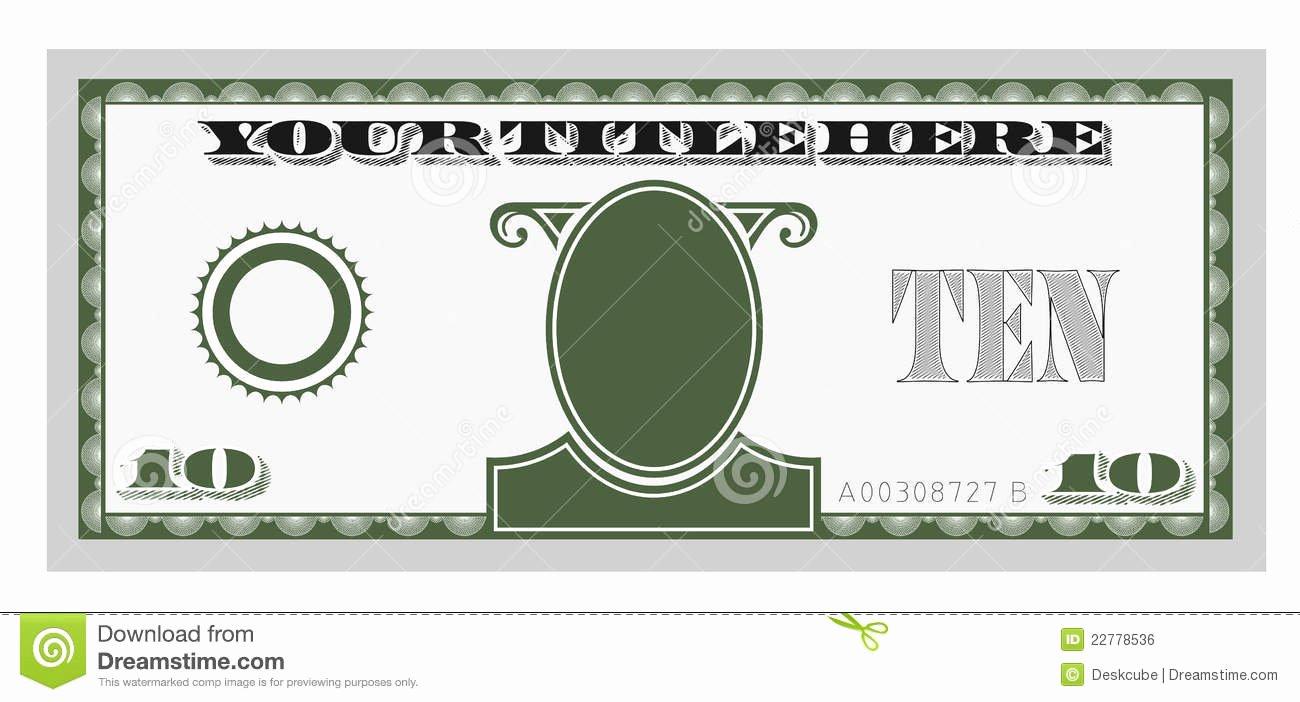 Editable Play Money Template Elegant Clipart Fake Money Clipground