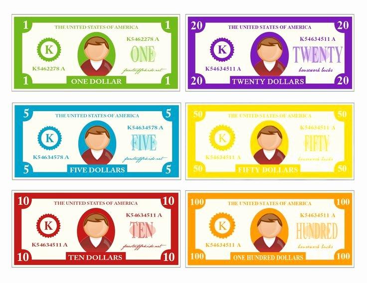 Editable Play Money Template Inspirational the 25 Best Play Money Template Ideas On Pinterest